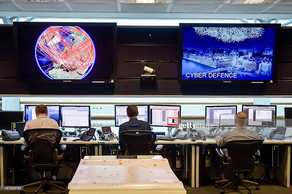A general view of the 24 hour Operations Room inside GCHQ, which Chancellor of the Exchequer George Osborne was shown by of Director of GCHQ Robert Hannigan and Cheltenham MP Alex Chalk on November 17, 2015 in Cheltenham, England. Chancellor George Osborne delivered a speech in which he stated that Britain has developed an 'offensive cyber capability' to hit back directly at terrorists and states, as he warned Islamic State was seeking to launch potentially deadly attacks on UK targets.