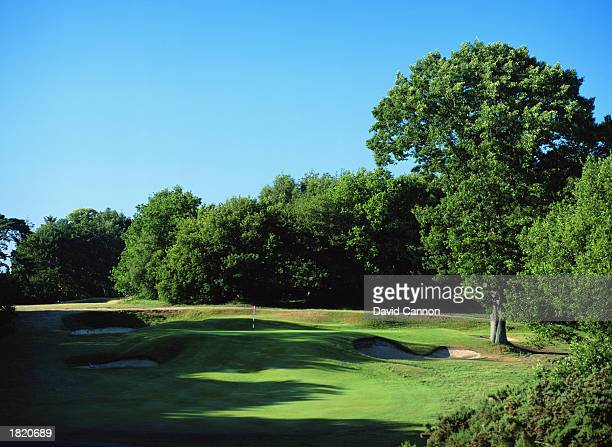 General view of the 2nd Hole Par 3 of the West Course at the Wentworth Golf Club,Surrey.