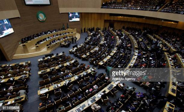 A general view of the 30th African Union Heads of State and Government Summit is held in Addis Ababa Ethiopia on January 28 2018