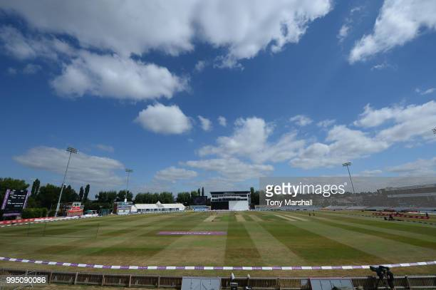 A general view of The 3aaa County Ground during the 2nd ODI ICC Women's Championship between England Women and New Zealand Women at The 3aaa County...