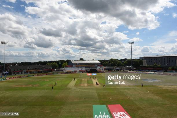 General view of The 3aaa County Ground during the ICC Women's World Cup 2017 match between West Indies and Sri Lanka on July 5 2017 in Derby England