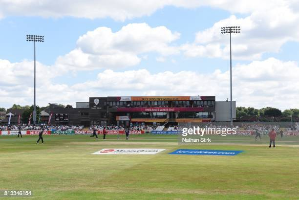 General view of The 3aaa County Ground during the ICC Women's World Cup 2017 between England and New Zealand on July 12 2017 in Derby England