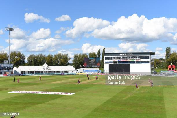 General view of The 3aaa County Ground during the Kia Super League 2017 match between Loughborough Lightning and Southern Vipers at The 3aaa County...