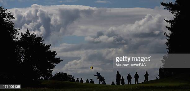 A general view of the 3rd green during The Open Championship International Final Qualifying Europe at Sunningdale Golf Club on June 24 2013 in...
