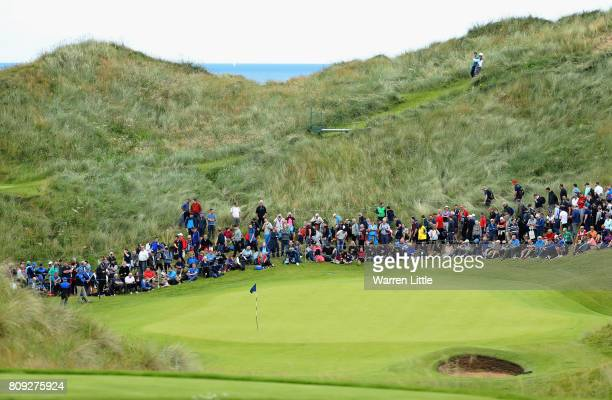 A general view of the 3rd green during the ProAm of the Dubai Duty Free Irish Open at Portstewart Golf Club on July 5 2017 in Londonderry Northern...