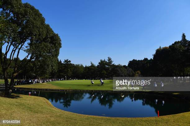 A general view of the 3rd hole during the final round of the TOTO Japan Classics 2017 at the Taiheiyo Club Minori Course on November 5 2017 in...