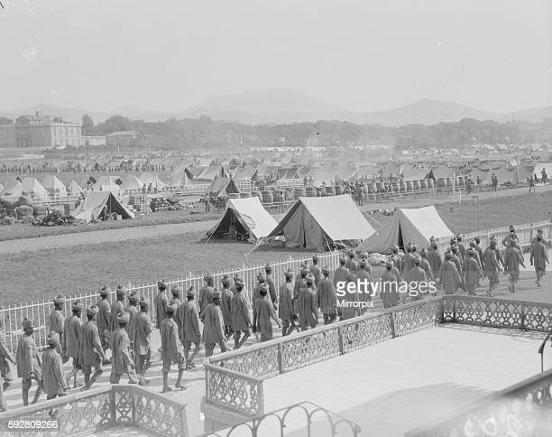 General view of the 3rd Indian Division rest camp on the race course at Marseilles France September 30th 1914