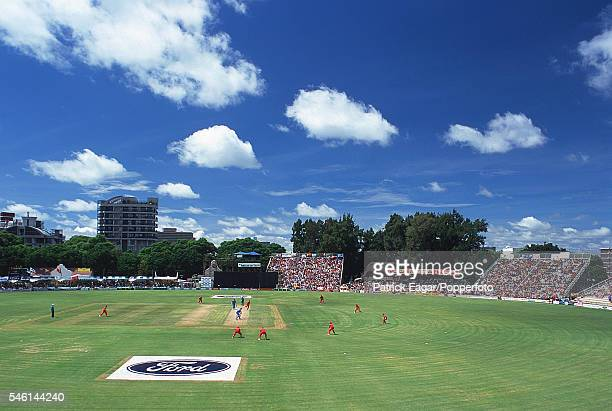General view of the 3rd One Day International between Zimbabwe and England at Harare Zimbabwe 20th February 2000