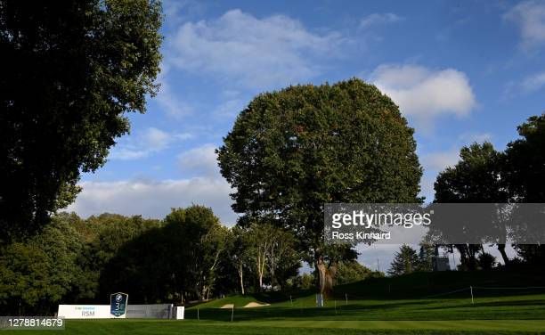 General view of the 3rd tee during a practice round prior of the BMW PGA Championship at Wentworth Golf Club on October 06, 2020 in Virginia Water,...