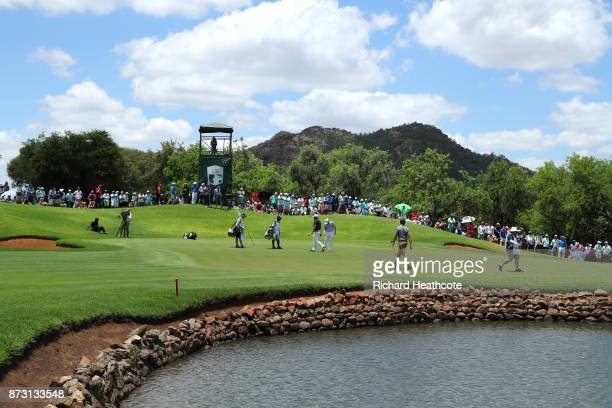 General View of the 4th green during the final round of the Nedbank Golf Challenge at Gary Player CC on November 12 2017 in Sun City South Africa