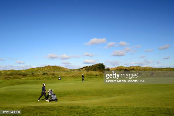 General View of the 4th green during the SemiFinals on Day Five of The Women's Amateur Championship at The West Lancashire Golf Club on August 29...