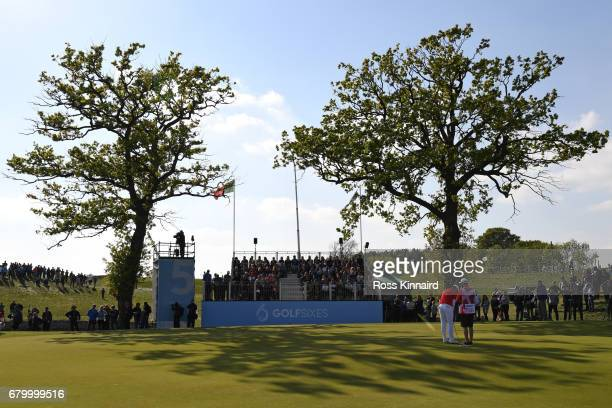 General View of the 5th green during the final match between Denmark and Australia during day two of GolfSixes at The Centurion Club on May 7 2017 in...
