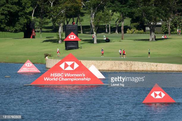 General view of the 5th green during the final round of the HSBC Women's World Championship at Sentosa Golf Club on May 2, 2021 in Singapore.