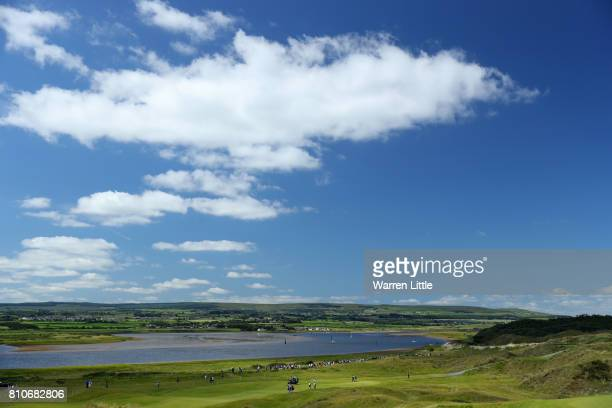 General View of the 5th hole during day three of the Dubai Duty Free Irish Open at Portstewart Golf Club on July 8 2017 in Londonderry Northern...