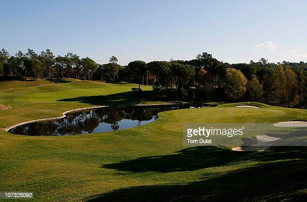 General view of the 5th hole on the stadium course during day one of the European Tour Qualifying School Final Stage at the PGA Golf de Catalunya...