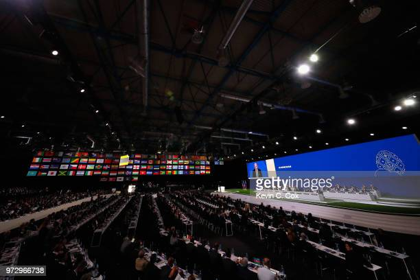 A general view of the 68th FIFA Congress at the Moscow Expocentre on June 13 2018 in Moscow Russia