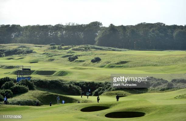 General view of the 6th during Day one of the Alfred Dunhill Links Championship at Kingsbarns Golf Links on September 26, 2019 in St Andrews, United...