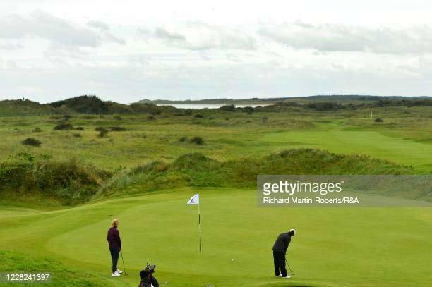 General View of the 6th green as Emily Toy of England putts during the Quarter Finals on Day Four of The Women's Amateur Championship at The West...