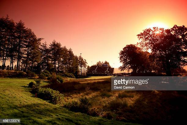 General view of the 6th green during the Morning Fourballs of the 2014 Ryder Cup on the PGA Centenary course at the Gleneagles Hotel on September 26,...