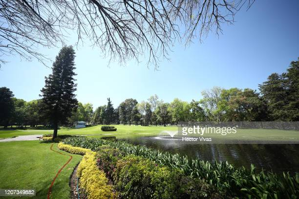 General view of the 6th hole ahead of World Golf ChampionshipsMexico Championship at Club de Golf Chapultepec on February 19 2020 in Mexico City...