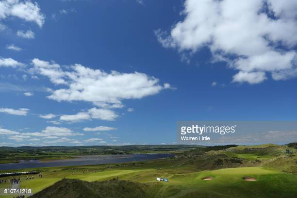 General View of the 6th hole during day three of the Dubai Duty Free Irish Open at Portstewart Golf Club on July 8 2017 in Londonderry Northern...