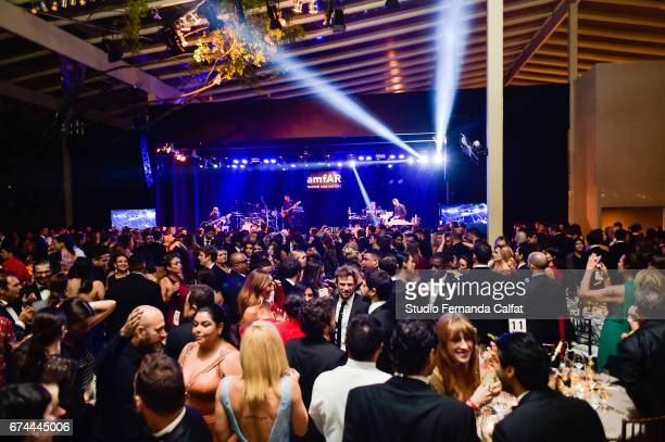 General view of the 7th Annual amfAR Inspiration Gala on April 27 2017 in Sao Paulo Brazil