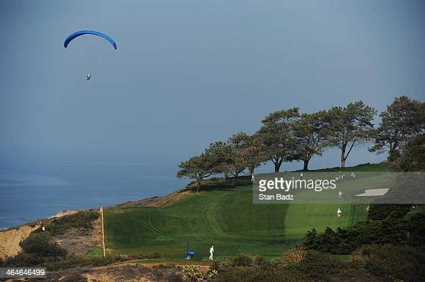 A general view of the 7th hole during the first round of the Farmers Insurance Open on Torrey Pines North on January 23 2014 in La Jolla California