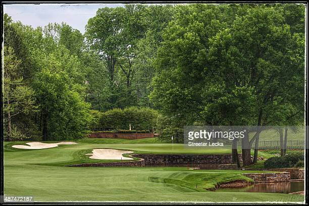 General view of the 7th hole during the pro-am at Quail Hollow Club on April 30, 2014 in Charlotte, North Carolina.