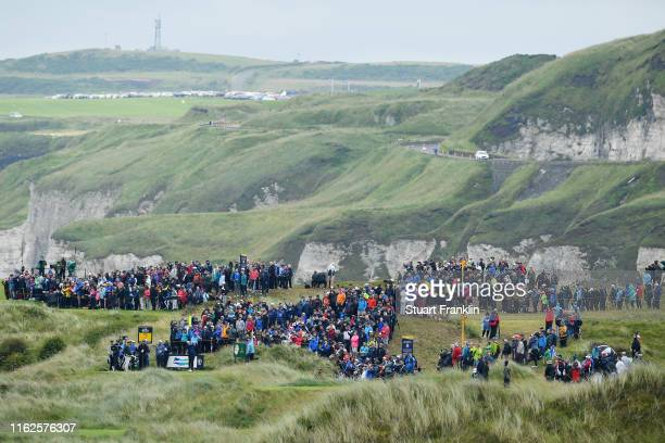 General view of the 7th tee during a practice round prior to the 148th Open Championship held on the Dunluce Links at Royal Portrush Golf Club on...