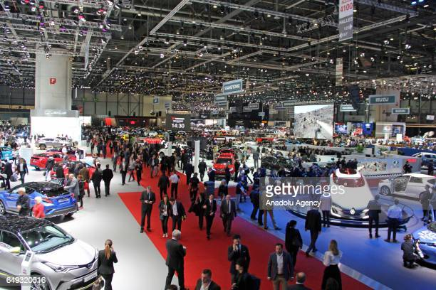 General view of the 87th Geneva International Motor Show at Palexpo Exhibition Centre in Geneva Switzerland on March 07 2017 The show opens to the...