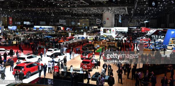 General view of the 89th Geneva International Motor Show, at the Palexpo, in Geneva, Switzerland on March 05, 2019.