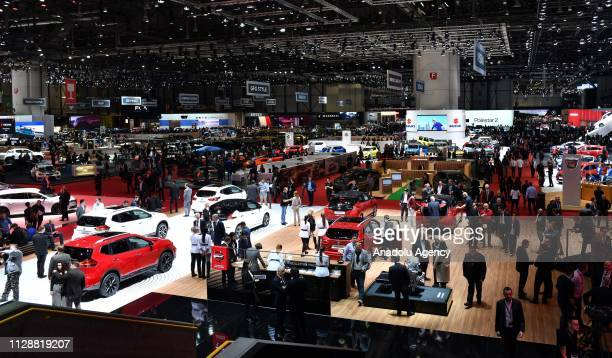 General view of the 89th Geneva International Motor Show at the Palexpo in Geneva, Switzerland on March 06, 2019.