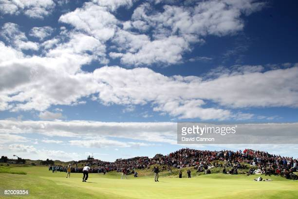 A general view of the 8th green during the final round of the 137th Open Championship on July 20 2008 at Royal Birkdale Golf Club Southport England