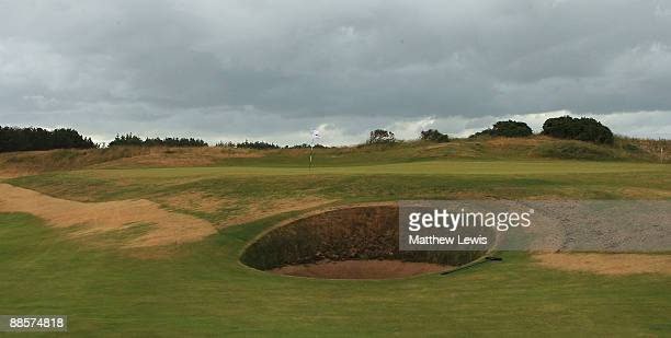 A general view of the 8th green during the Glenmuir PGA Professional Championship at Dundonald Links on June 18 2009 in Dundonald Scotland
