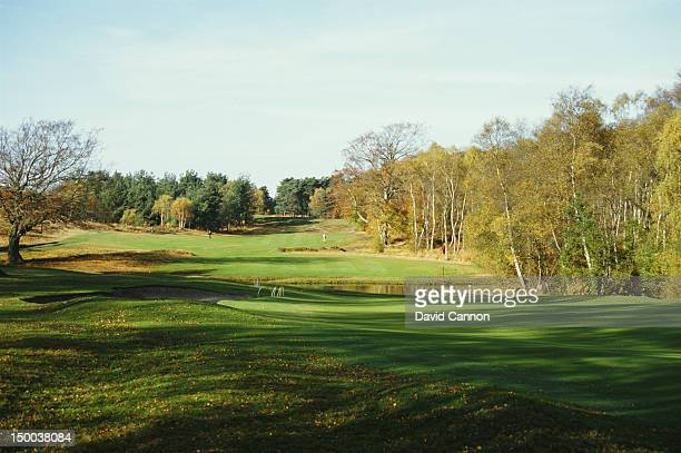 General view of the 8th hole par 4 of the West Course on 1st April 1986 at the Wentworth Club in Virginia Water, United Kingdom.