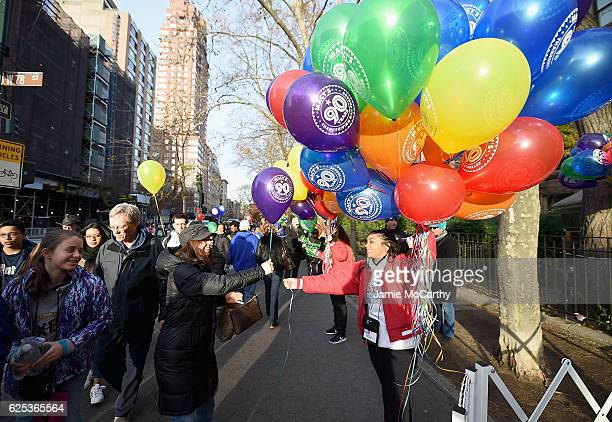 A general view of the 90th Anniversary Macy's Thanksgiving Day Parade Inflation Eve on November 23 2016 in New York City