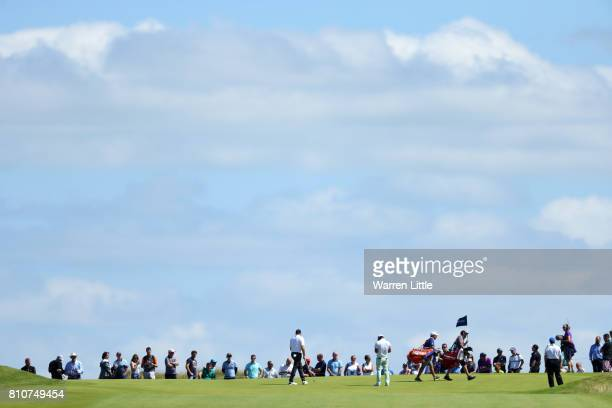 General View of the 9th green during day three of the Dubai Duty Free Irish Open at Portstewart Golf Club on July 8 2017 in Londonderry Northern...