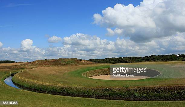 A general view of the 9th green during the Glenmuir PGA Professional Championship at Dondoanld Links on June 16 2009 in Dundonald Scotland