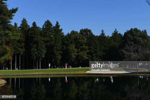A general view of the 9th hole during the final round of the TOTO Japan Classics 2017 at the Taiheiyo Club Minori Course on November 5 2017 in...