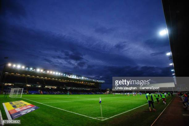 General view of the ABAX Stadium , home of Peterborough United FC during the Sky Bet League One match between Peterborough United and Blackpool at...