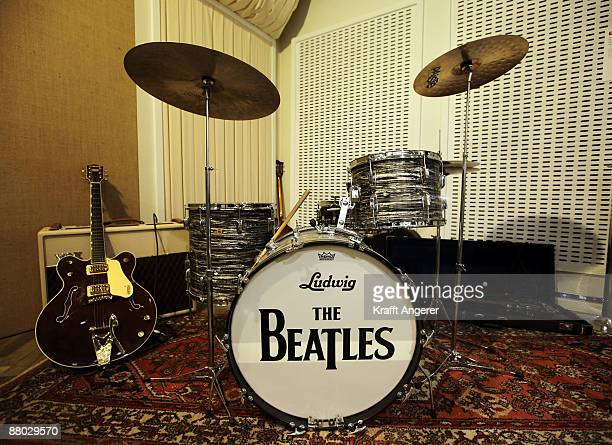 A general view of the 'Abbey Road Studio' room is seen at the Beatlemania exhibition on May 28 2009 in Hamburg Germany The exhibition which opens...