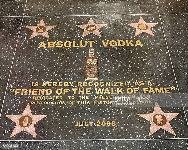 General view of the ABSOLUT Vodka star on the Hollywood Walk of Fame on December 11 2008 in Hollywood California