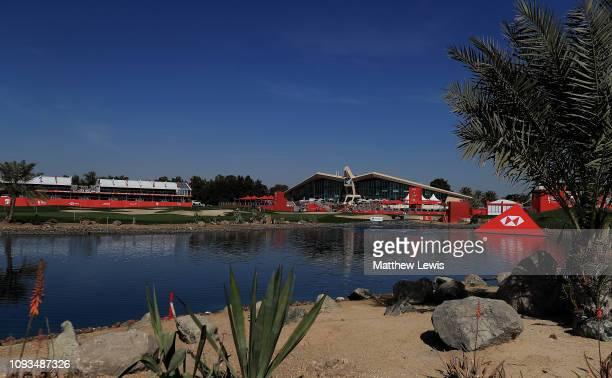 A general view of the Abu Dhabi Golf Club ahead of the Abu Dhabi HSBC Golf Championship at the Abu Dhabi Golf Club on January 13 2019 in Abu Dhabi...