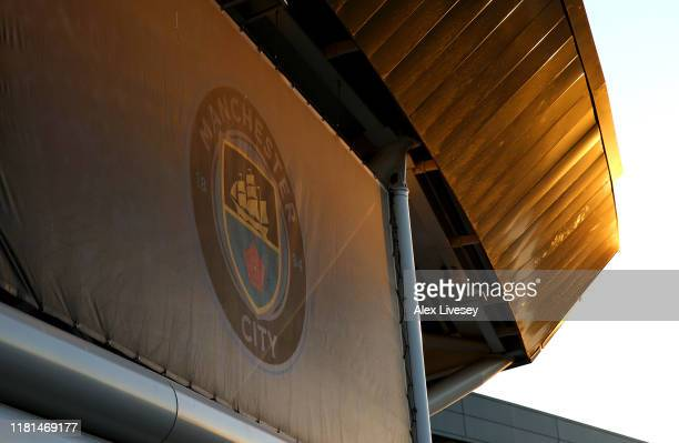 General view of The Academy Stadium prior to the UEFA Women's Champions League Round of 16 First Leg match between Manchester City Women and Atletico...
