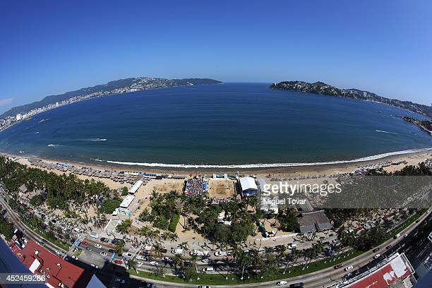 A general view of the Acapulco bay during the FIVB Under 17 World Championship Acapulco 2014 on July 20 2014 in Acapulco Mexico