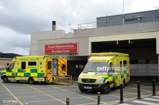 A general view of the accident and emergency department of Ysbyty Gwynedd hospital on October 2 2013 in Bangor United Kingdom