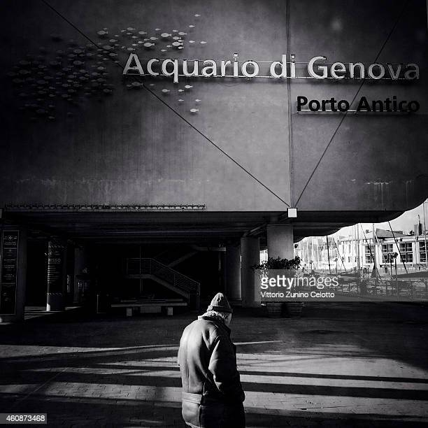 A general view of the Acquarium of Genoa on December 28 2014 in Genoa Italy