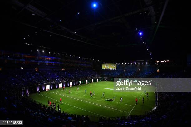 A general view of the action as Ireland take on the Barbarians during the Rugby X at The O2 Arena on October 29 2019 in London England