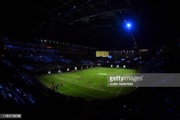 General view of the action as Ireland take on the Barbarians during the Rugby X at The O2 Arena on October 29, 2019 in London, England.