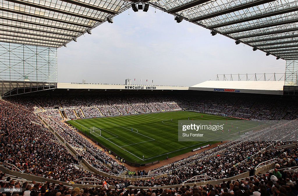 A general view of the action at St James' Park during the Coca Cola Championship match between Newcastle United and Ipswich Town at St. James Park on April 24, 2010 in Newcastle upon Tyne, England.
